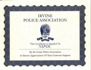 Irvine Police Association Awarded to NIPOC